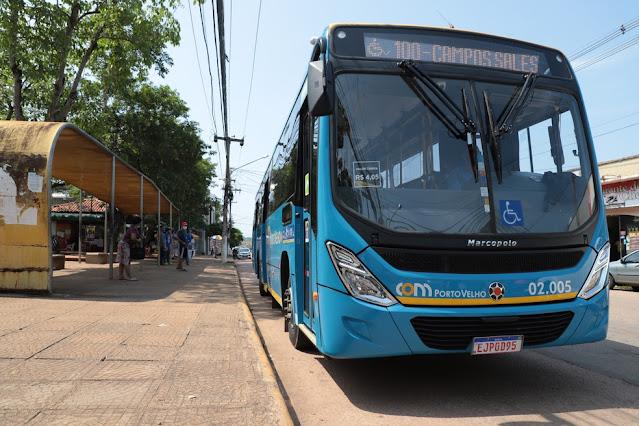 Ônibus do transporte coletivo em Porto Velho