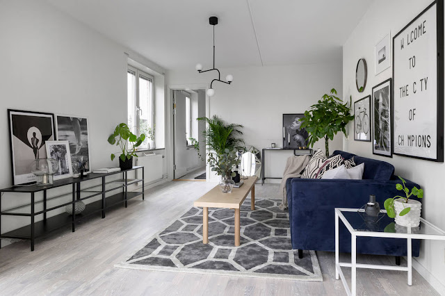 Stylish scandinavian apartment