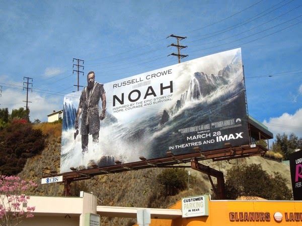 Russell Crowe Noah special extension movie billboard