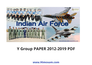 Solved Indian Airforce Y group Previous Paper 2012 to 2019