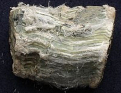 Chrysotile asbestos, asbestos, pneumoconiosis, mesothelioma, etiology, causes, chemical formula Mg3(Si2O5)(OH)4