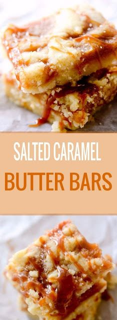 Perfect Salted Caramel Butter Bars