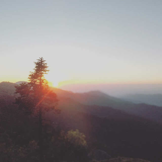 sun set himachal