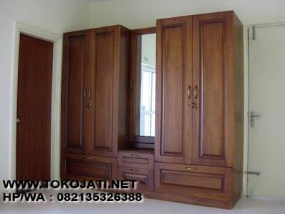 Jual Almari Klasik Jati Jepara interior kamar tidur,Almari pakaian Klasik kayu jati jepara