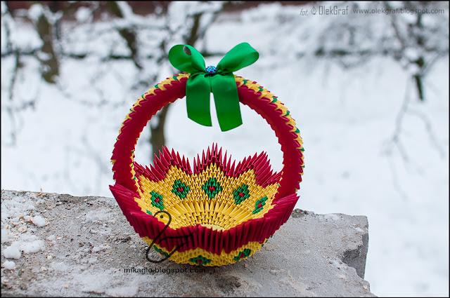 522. Koszyk z origami / 3d origami basket