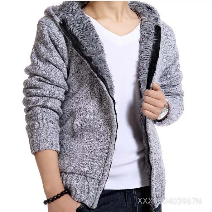 Knitted Casual Hoodies Cardigan Coat
