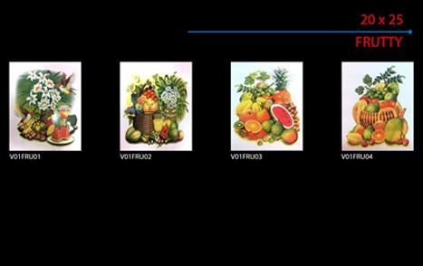 Panel buah ukuran 50x40 cm Horisontal