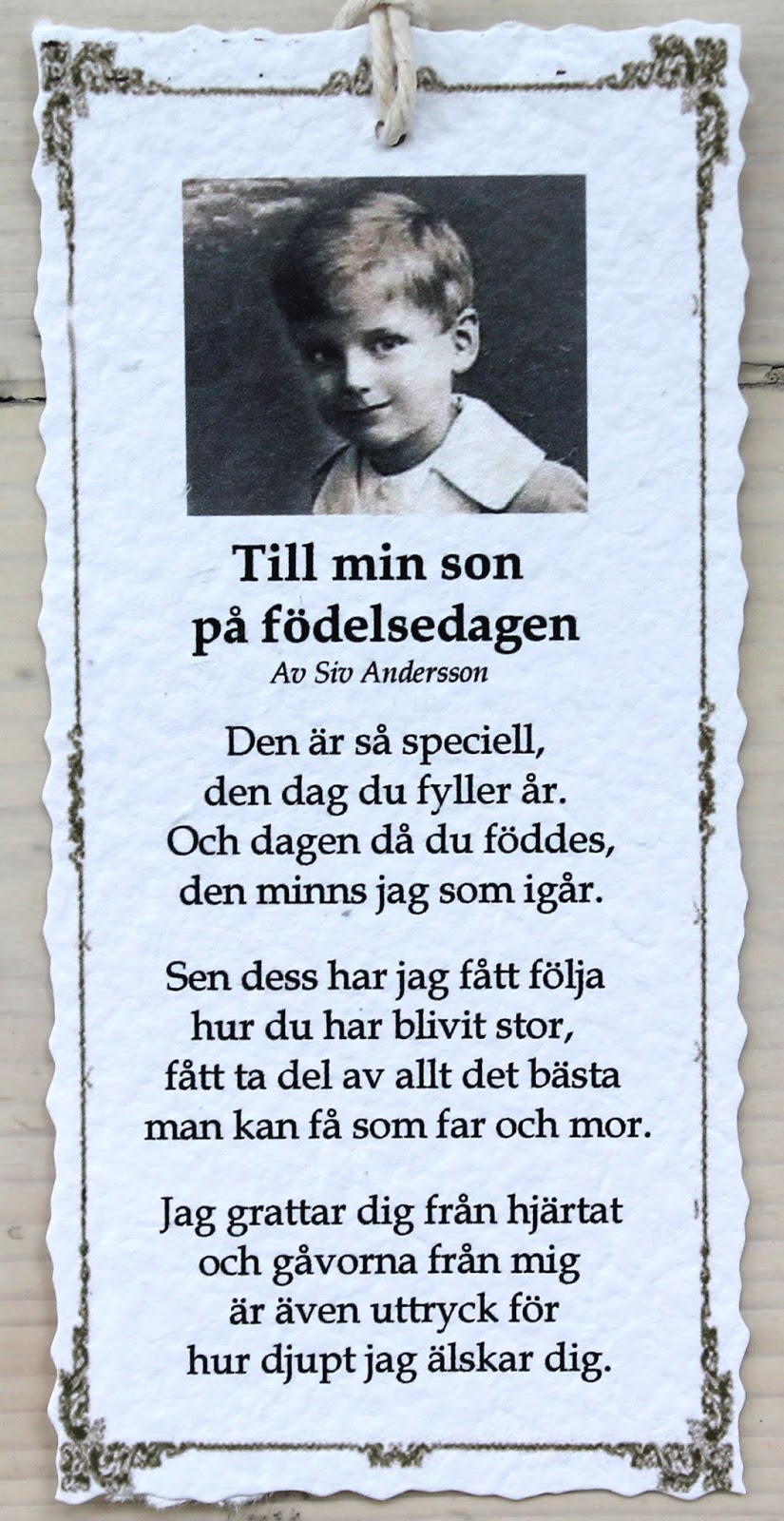 grattis brorsan dikt Annas idéer bloggbutik: september 2015 grattis brorsan dikt