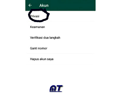 Menu Privasi