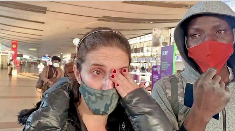 Luz Valdivieso lloró tras vuelo humanitario
