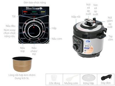 Nồi áp suất Bluestone 5L PCB-5619