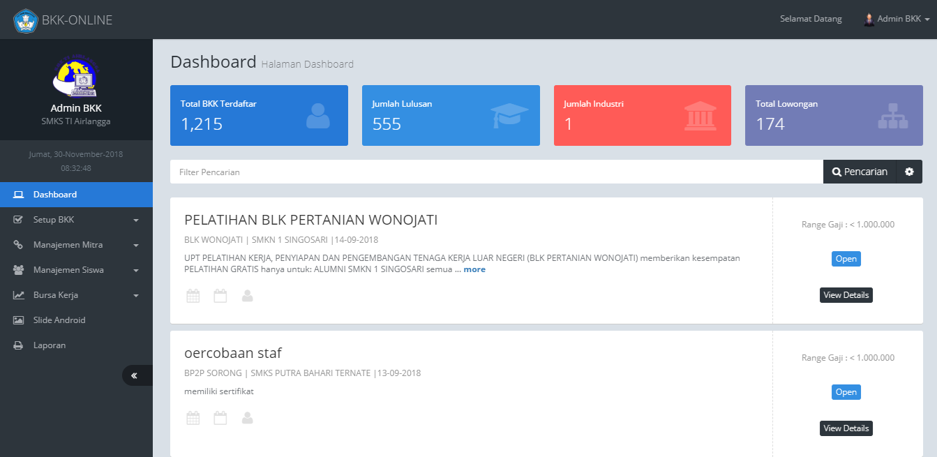 Smk Ti Airlangga Samarinda Smk Ti Airlangga Resmi Menggunakan Aplikasi Bursa Kerja Khusus Online Direktorat Pembinaan Smk