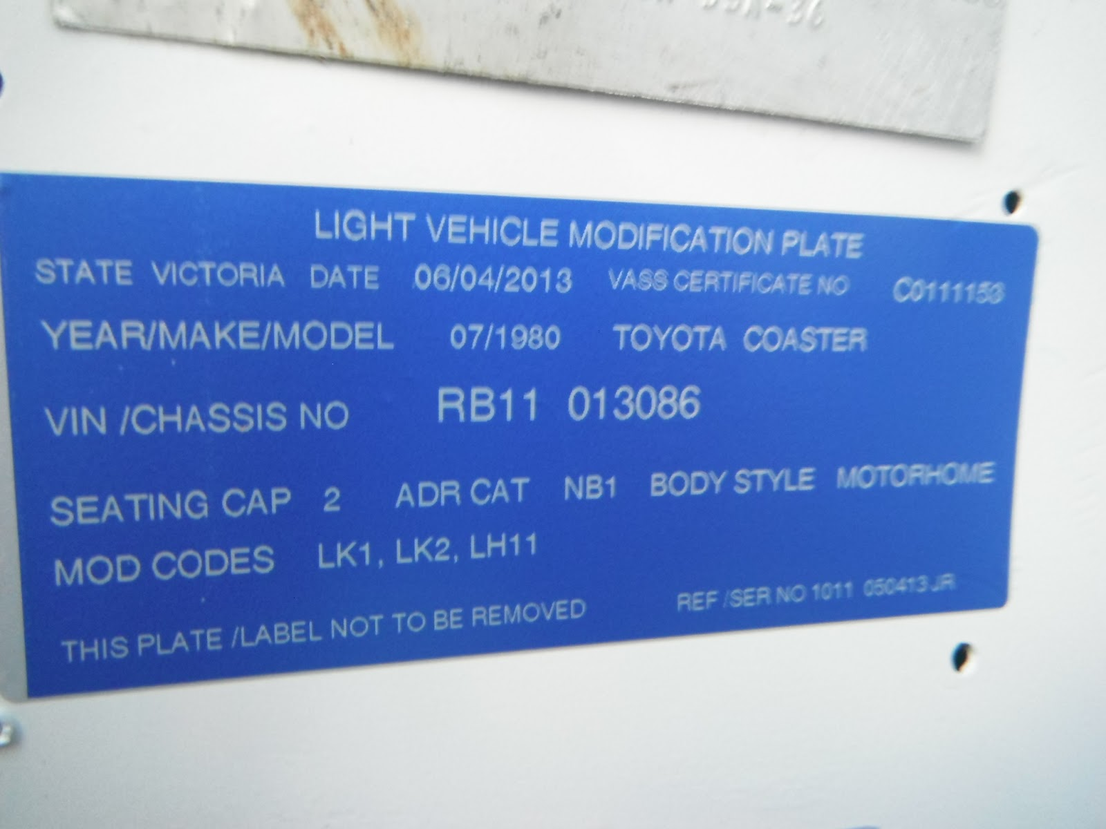 From Compliance Plate to Roadworthy Certificate to Registration