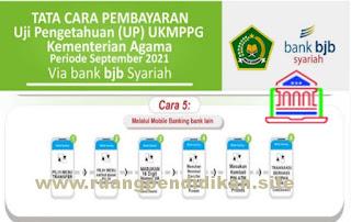 pembayaran melalui Mobile Banking Bank lain