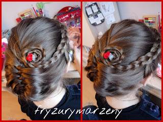 Kok-warkocz-kłos-kwiat-z-włosów-eleganckie-upięcie-wieczorowa-fryzura-warkocz