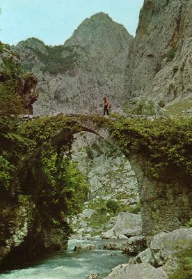 Puente de la Jaya sobre el río Cares camino de Bulnes.