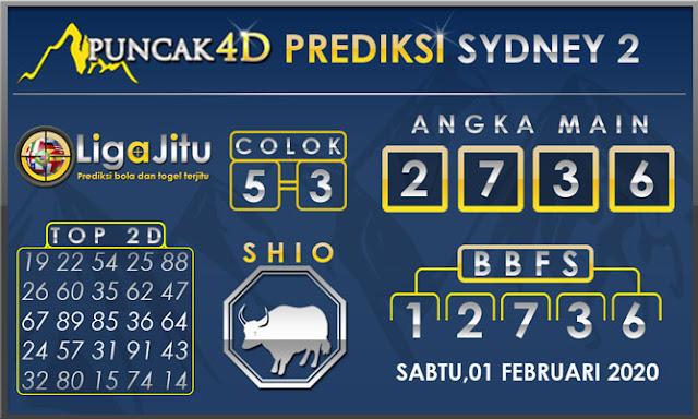 PREDIKSI TOGEL SYDNEY2 PUNCAK4D 01 FEBUARI 2020