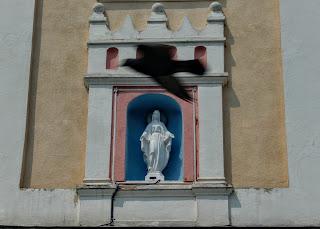 Самбір. Ратуша. Скульптура Божої Матері
