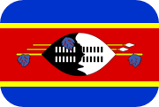 Rounded flag of Swaziland