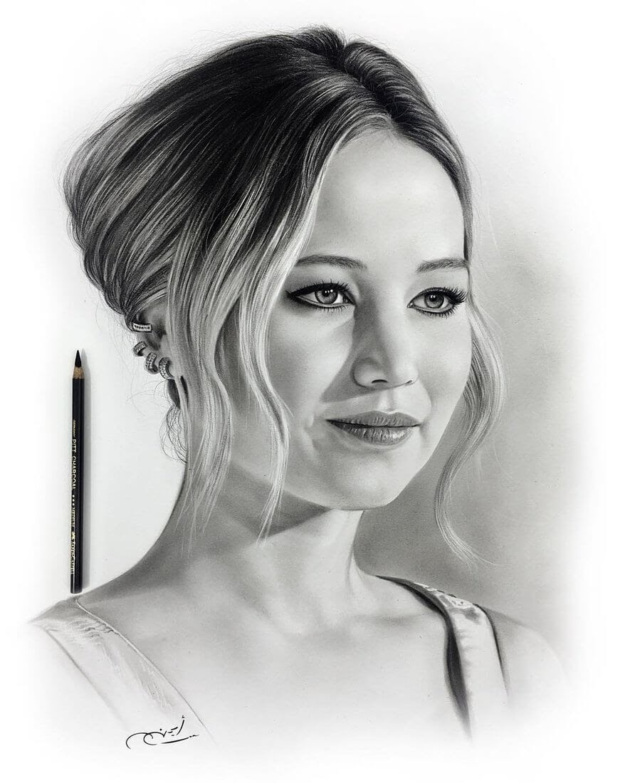 08-Jennifer-Lawrence-Aymanarts-Realistic-3D-Illusion-Portrait-Drawings-www-designstack-co