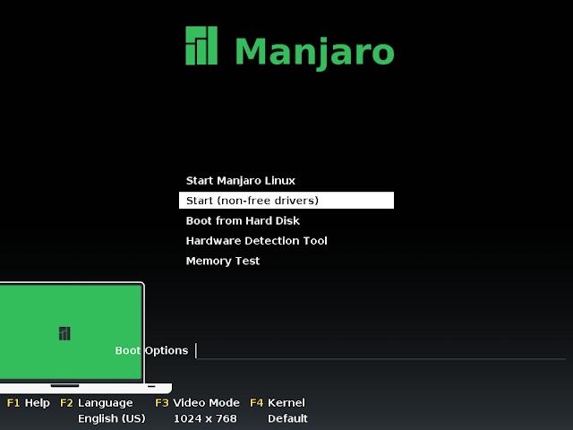Initial configuration menu