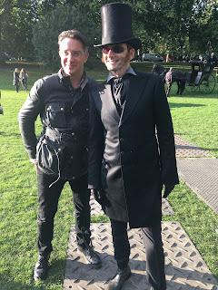 Rob Wilkins y David Tennant en el segundo día de filmación