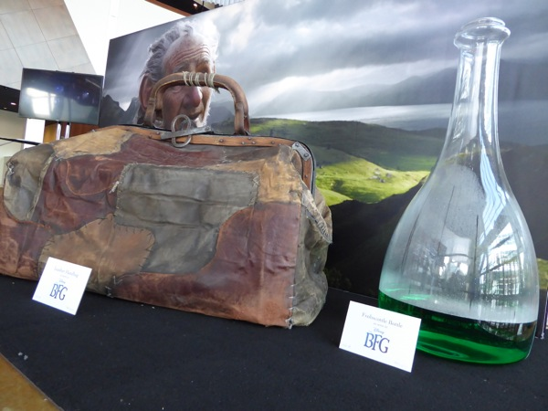 The BFG film prop exhibit