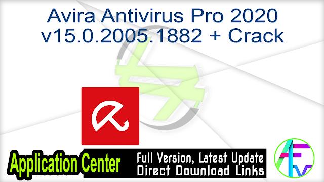 Avira Antivirus Pro 2020 v15.0.2005.1882 + Crack
