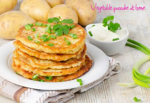 A special pancake with vegetables – vegetable pancake at home