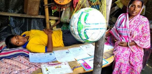 अज्ञात बीमारी के चपेट में आयी नेशनल लेवल पर फुटबॉल खेल चुकीं प्रीति - newsonfloor.com