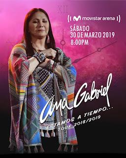 POSTER Concierto de ANA GABRIEL en Bogotá 2019