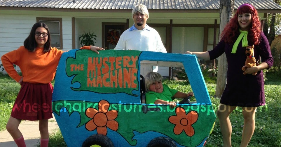 Wheelchair Costumes The Mystery Machine From Scooby Doo