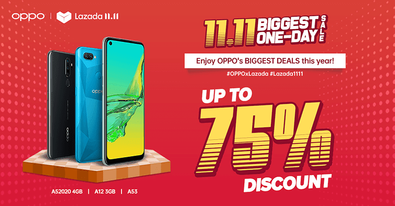 OPPO Lazada 11.11 One-Day Sale