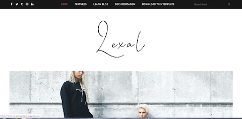 Lexel Fashion Blogger Website Templates Free Download