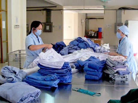 The One Việt Nam lắp đặt máy giặt công nghiệp cho bệnh viện ở Tuyên Quang