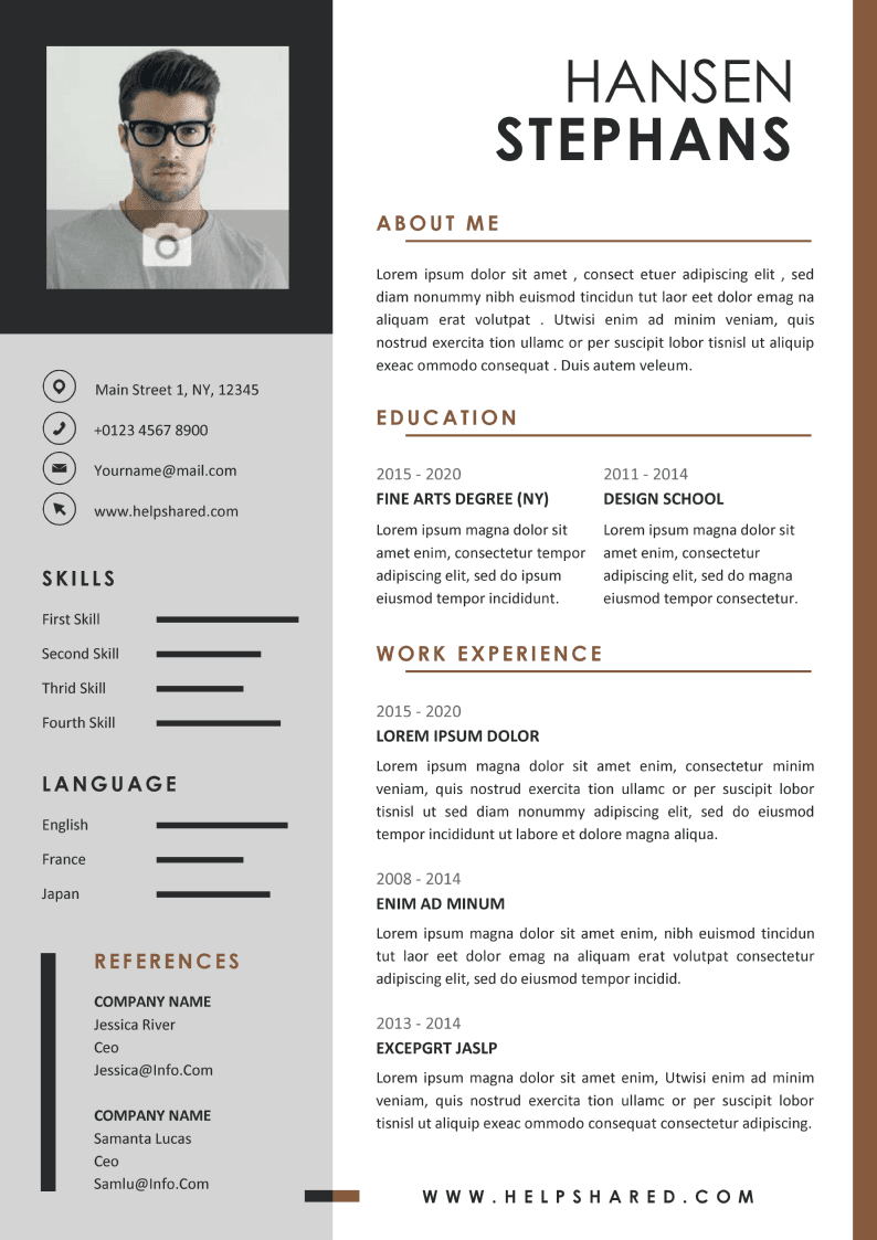 cv resume template design