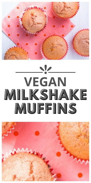 Vegan Strawberry Milkshake Muffins
