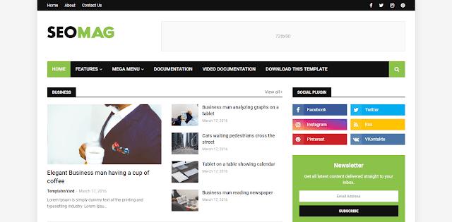 Download Free Premium Seo Mag Niche Blogger Template