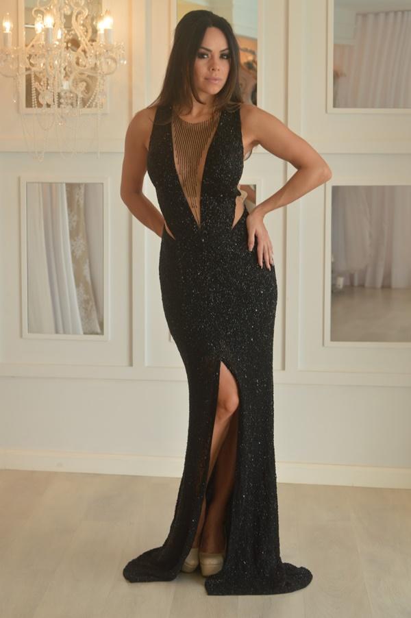 vestido de festa preto formatura