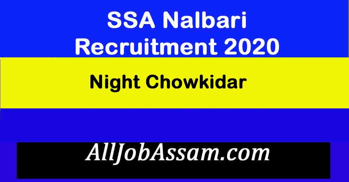 SSA Nalbari Recruitment 2020