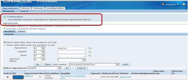 ORACLE MASTERMINDS Update/Add lines in Global Blanket Purchase