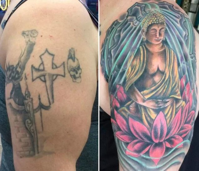 can you add color to a black tattoo