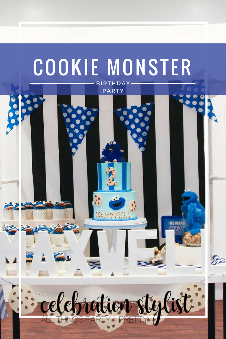 Cookie Monster Birthday Party by popular party blogger Celebration Stylist