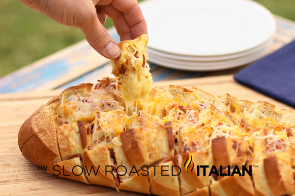 ... Bacon Cheddar Ranch Pull Apart Bread is insanely addictively delish