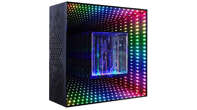 Bluetooth Water Speaker, Wireless Speakers with LED Lights, Dual 2.1 Channel Stereo Sound