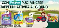Logo Con Pampers puoi vincere 210 tappetini attività con librotto fantasia