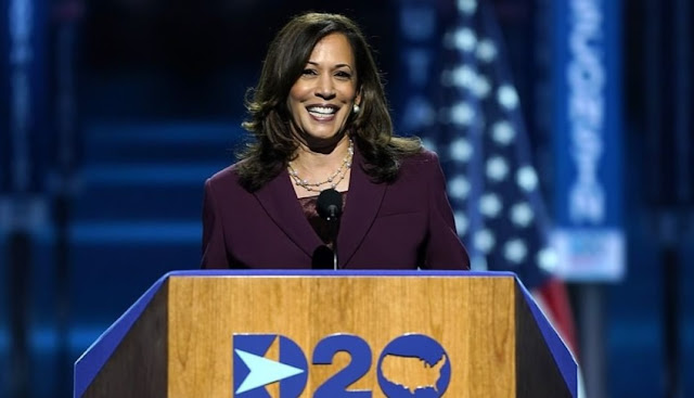 """There is no vaccine for racism'' -- Kamala Harris Assails on Trump in DNC Speech"