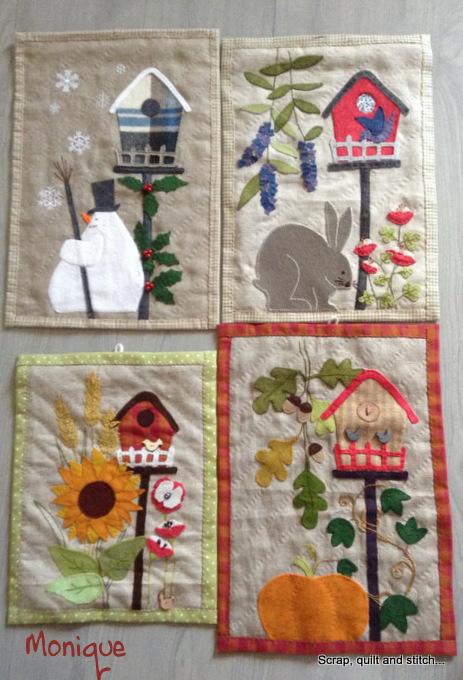 scrap quilt and stitch nichoirs des 4 saisons. Black Bedroom Furniture Sets. Home Design Ideas