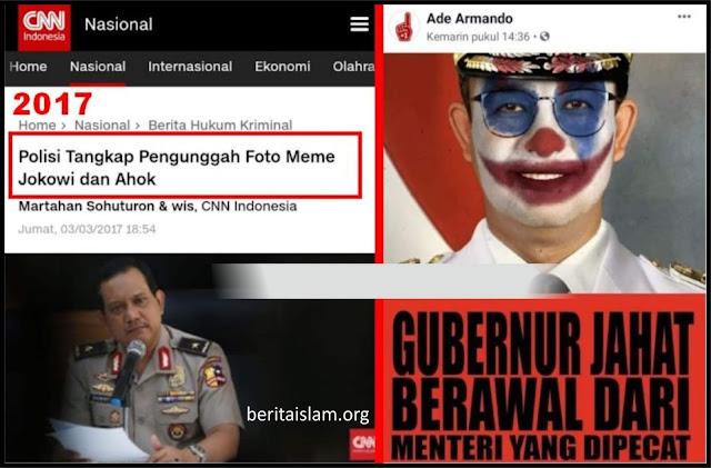 Dulu Pengunggah Meme Jokowi Ahok Ditangkap