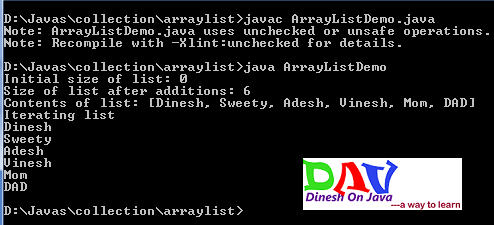 ArrayList in Java Collection Framework